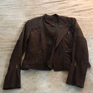 NWT Theory Leather Moto Jacket